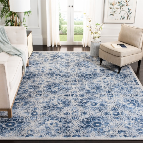 Safavieh Martha Stewart Brentwood Area Rug - Cream/Blue Perspective: bottom
