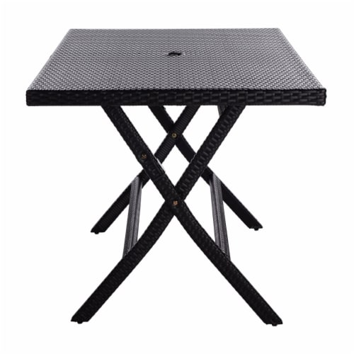 Akita Folding Table Black Perspective: bottom