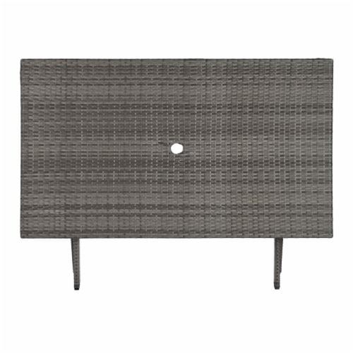Akita Folding Table Grey Perspective: bottom