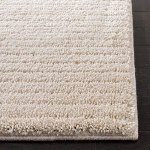 Martha Stewart Collection Lucia Shag Area Rug - Ivory Perspective: bottom
