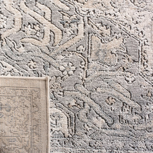 Martha Stewart Rancher Oregon Area Rug - Ivory/Gray Perspective: bottom