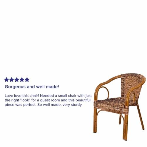 Flash Furniture Rattan Chair Aluminum Frame Dark Red Bamboo Perspective: bottom