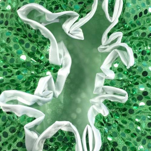 Wrapables Trendy Satin Shower Cap, Green Glitter Perspective: bottom