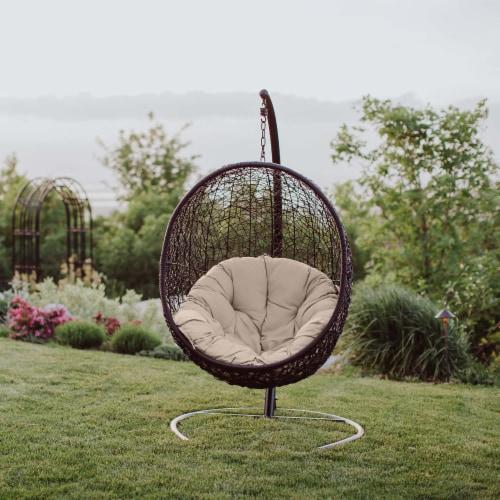 Encase Swing Outdoor Patio Lounge Chair - Beige Perspective: bottom