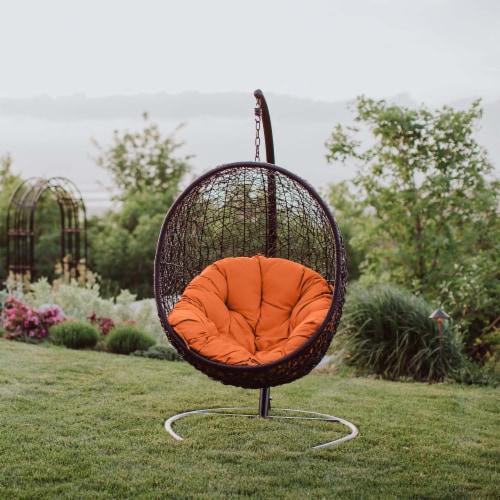 Encase Swing Outdoor Patio Lounge Chair - Orange Perspective: bottom