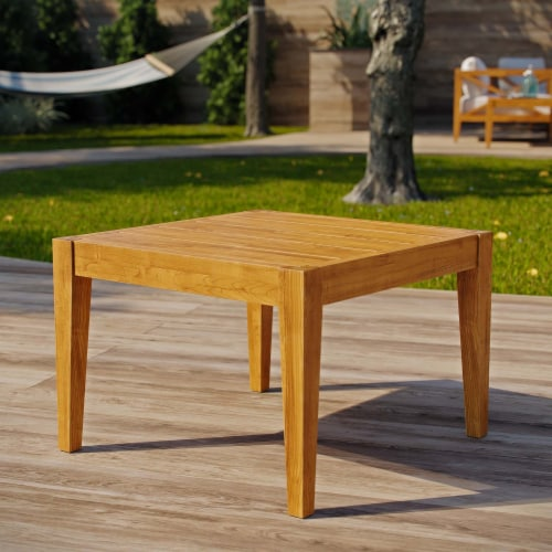 Northlake Outdoor Patio Premium Grade A Teak Wood Side Table Perspective: bottom
