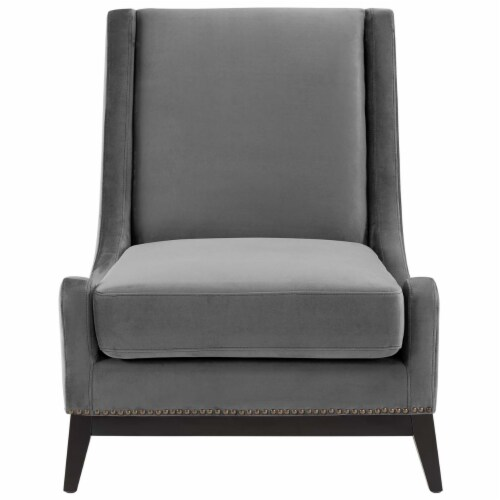 Confident Accent Upholstered Performance Velvet Lounge Chair Perspective: bottom