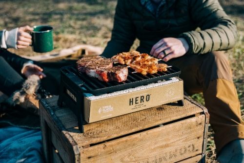 Fire & Flavor HERO Portable Charcoal Grill Perspective: bottom