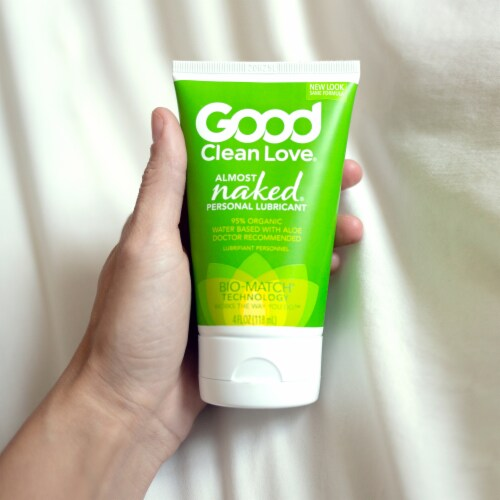 Good Clean Love Almost Naked 95% Organic Personal Lubricant Perspective: bottom