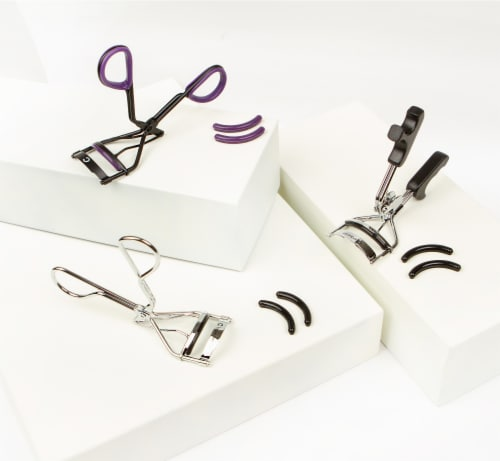 Basicare Euro Grip Eyelash Curler | with 2 Spare Rubbers Perspective: bottom