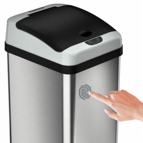 iTouchless IT13RX 13 Gallon Touchless Kitchen Garbage Trash Can, Stainless Steel Perspective: bottom