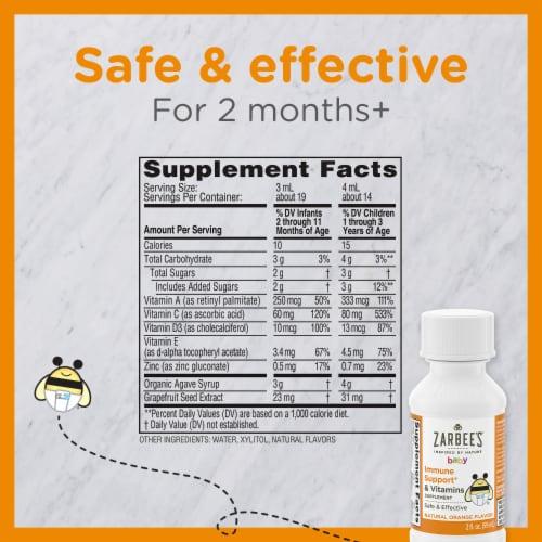 Zarbee's® Baby Natural Orange Flavor Immune Support & Vitamins Supplement Perspective: bottom