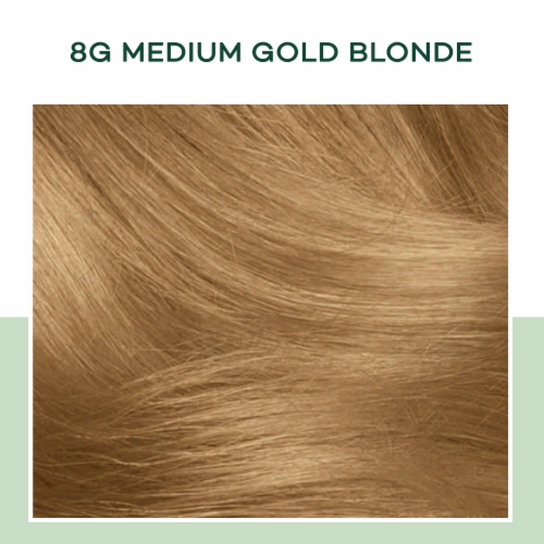 Clairol Healthy Looking Natural Instincts 8G Medium Golden Blonde Hair Color Perspective: bottom