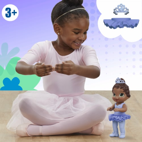 Hasbro Baby Alive Sweet Ballerina Brown Hair Baby Doll - Blue Perspective: bottom