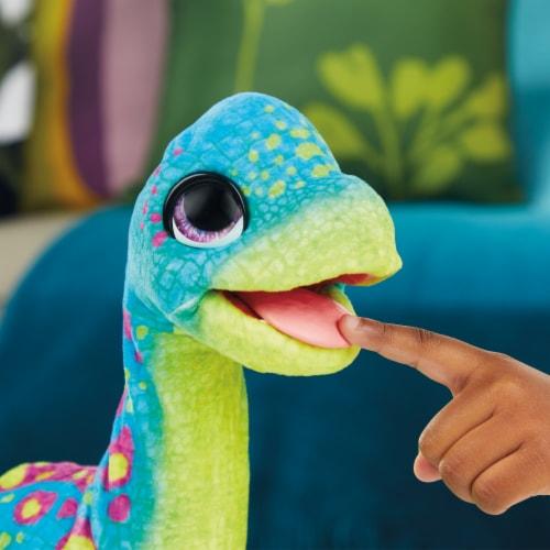 Hasbro furReal Snackin' Sam the Bronto Interactive Animatronic Dinosaur Plush Toy Perspective: bottom