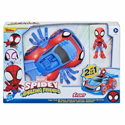 Hasbro Disney Junior Marvel Spidey and His Amazing Friends Web-Crawler And Spidey Perspective: bottom