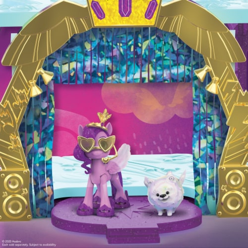 Hasbro My Little Pony: A New Generation Princess Petals & Cloud Puff Royal Racing Ziplines Playset Perspective: bottom