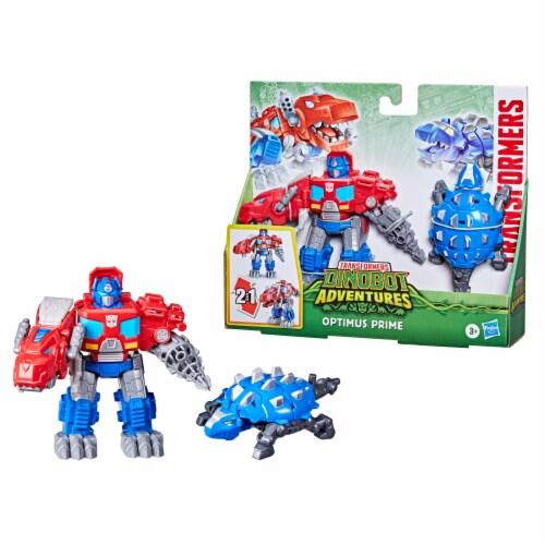 Hasbro Transformers Dinobot Adventures Optimus Prime Figures Perspective: bottom