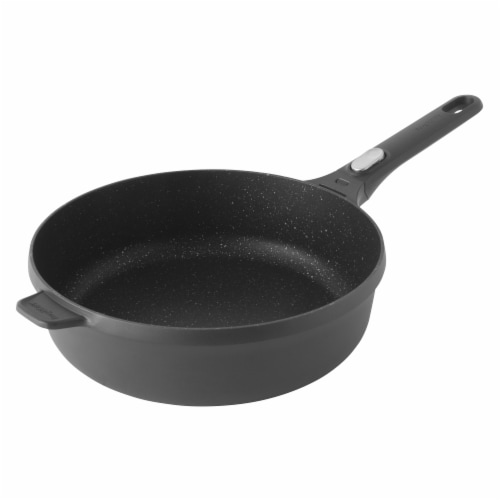 BergHOFF Cast Aluminum Saute Pan with Cover - Black Perspective: bottom