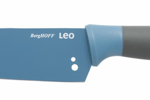 BergHOFF Leo Stainless Steel Chef Knife with Herb Stripper - Blue Perspective: bottom