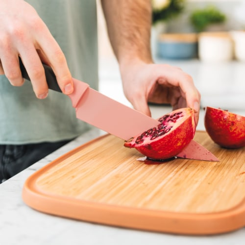 BergHOFF Leo Stainless Steel Chef Knife - Pink Perspective: bottom