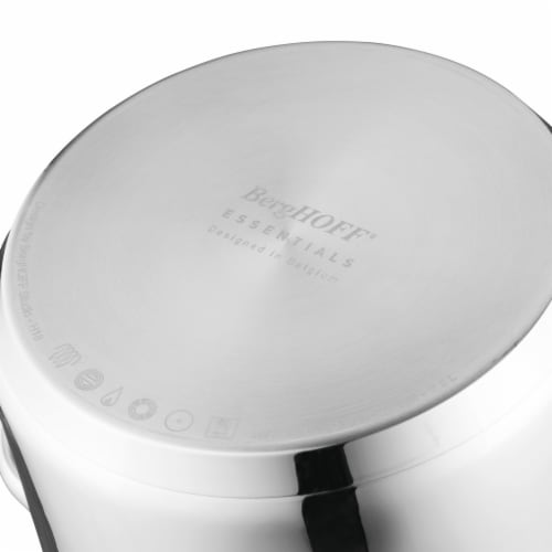 BergHOFF Stainless Steel Covered Stockpot Perspective: bottom