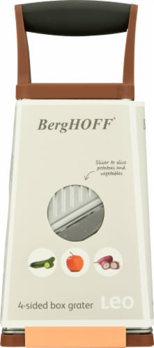 BergHOFF 4-Sided Box Grater - Pink/Gray Perspective: bottom