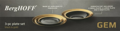 BergHOFF Gem Plate Set - Black/Gold Perspective: bottom