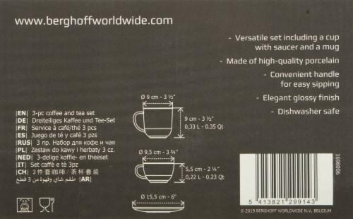 BergHOFF Gem Coffee and Tea Set - Black/Gold Perspective: bottom
