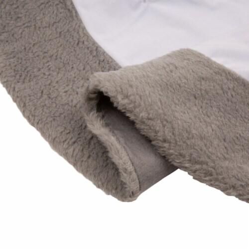 Glitzhome Fleece Christmas Tree Skirt - White/Gray Perspective: bottom