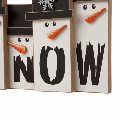 Glitzhome Wooden Christmas Snowman Family Table Decoration Perspective: bottom