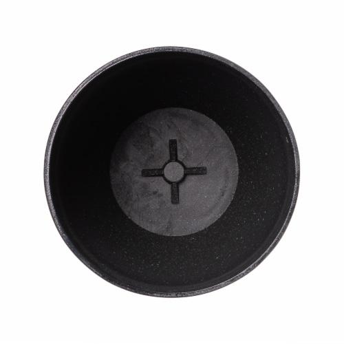 Glitzhome Oversized Faux Ceramic Tall Bowl Plastic Pot Planter - Black Perspective: bottom