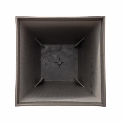 Glitzhome Faux Concrete Square Pot Planter Perspective: bottom