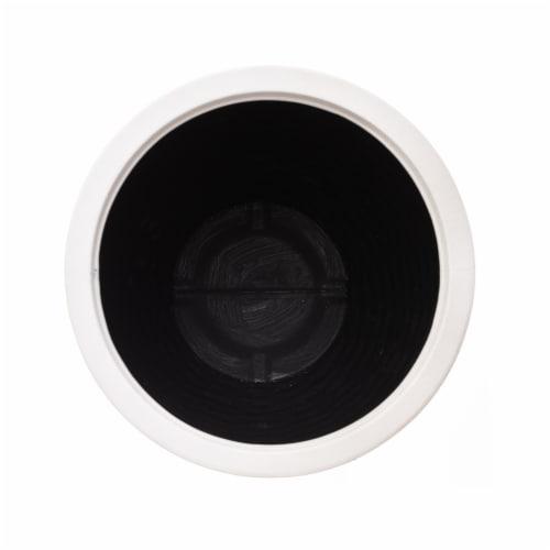 Glitzhome Faux Porcelain Round Planter Perspective: bottom