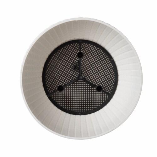 Glitzhome Solar Light Plastic Hanging Planter - White Perspective: bottom