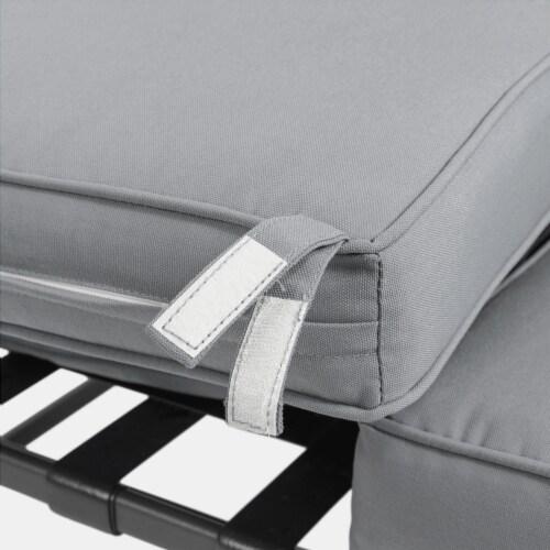 Glitzhome Outdoor Patio Garden Loveseat Glider Chair - Gray Perspective: bottom