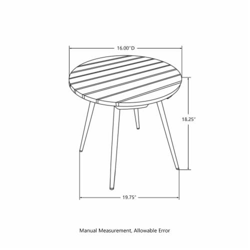 Glitzhome Round SLatted Bamboo Table Perspective: bottom