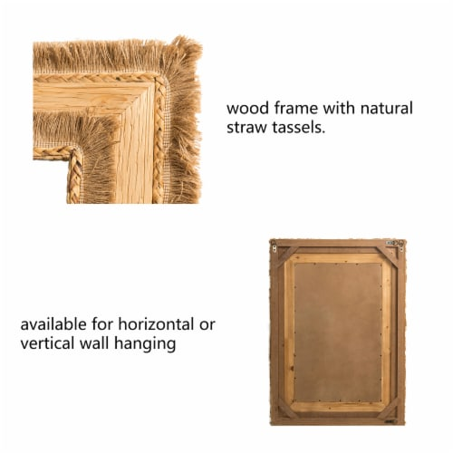 Glitzhome Oversized Bohemian Style Decorative Wall Mirror Perspective: bottom