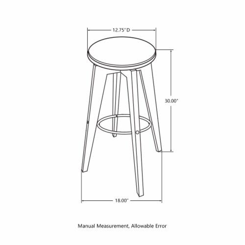Glitzhome Bamboo Pub Table and Bar Stools Set Perspective: bottom