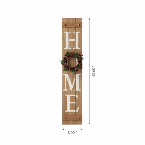 Glitzhome Wooden Holiday Wall Sign Perspective: bottom
