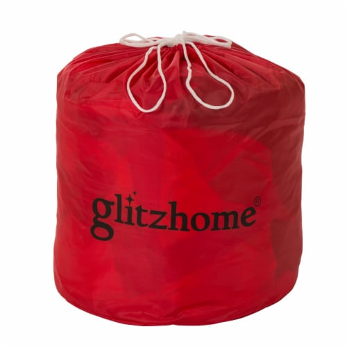 Glitzhome  Lighted Inflatable Santa Holiday Decor Perspective: bottom