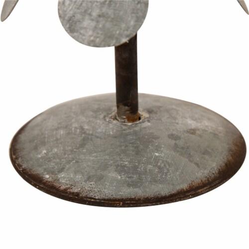 Glitzhome Galvanized Metal Christmas Tree Decor - Silver Perspective: bottom