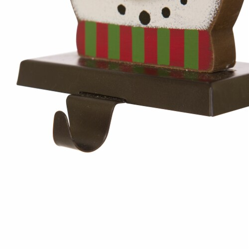 Glitzhome Snowman Head Christmas Stocking Holder Perspective: bottom