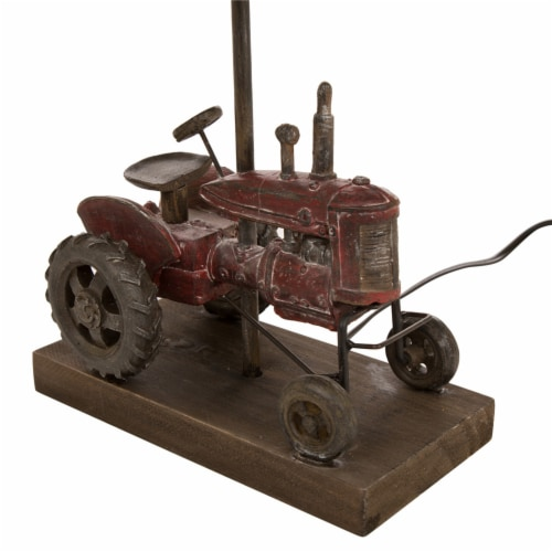 Glitzhome Polyresin Industrial Farmhouse Truck Table Lamp Perspective: bottom