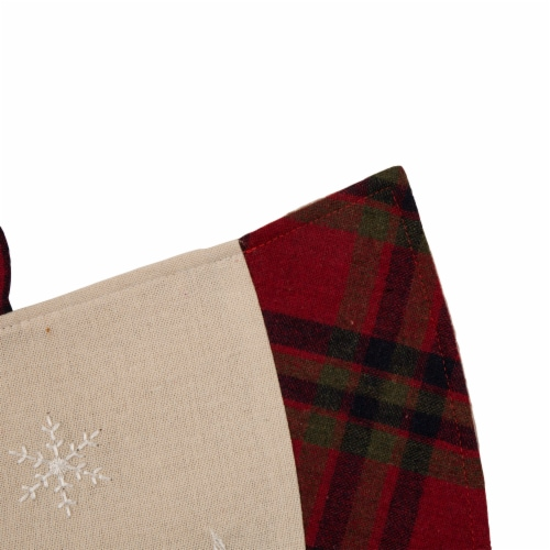 Glitzhome Dachshund Fabric Christmas Tree Skirt - Light Brown Perspective: bottom