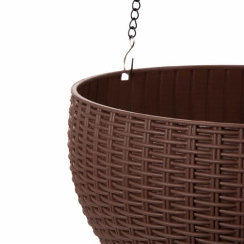 Glitzhome Solar Light Hanging Planter Perspective: bottom