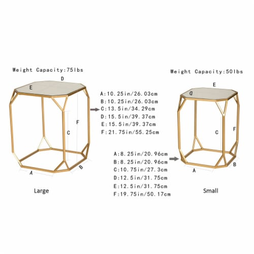 Glitzhome Metal with Glass Square Accent Table - Gold Perspective: bottom