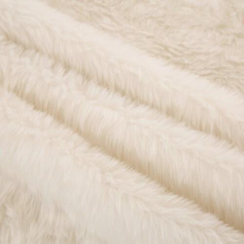 Glitzhome Plush Christmas Tree Skirt - White Perspective: bottom