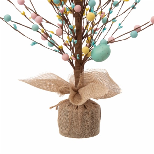 Glitzhome Easter Eggs with Cement Base Table Tree Decoration Perspective: bottom