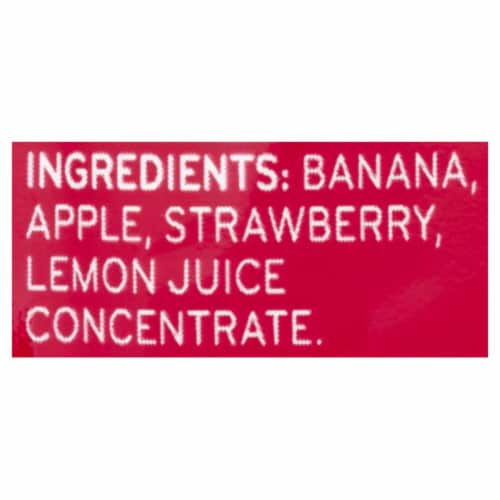 Beech-Nut Fruities Banana Apple Strawberry Stage 2 Baby Food Perspective: bottom